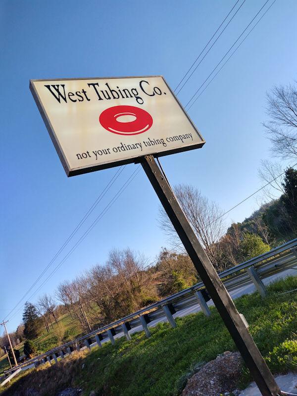 West Tubing Signage - Warne, NC