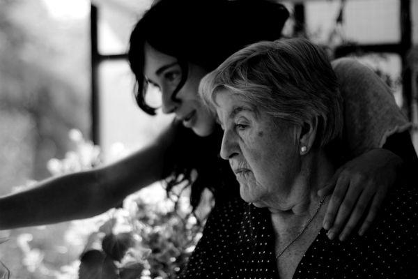 caregiver with senior