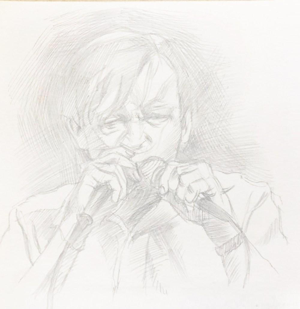 Drawing of Mark E. Smith