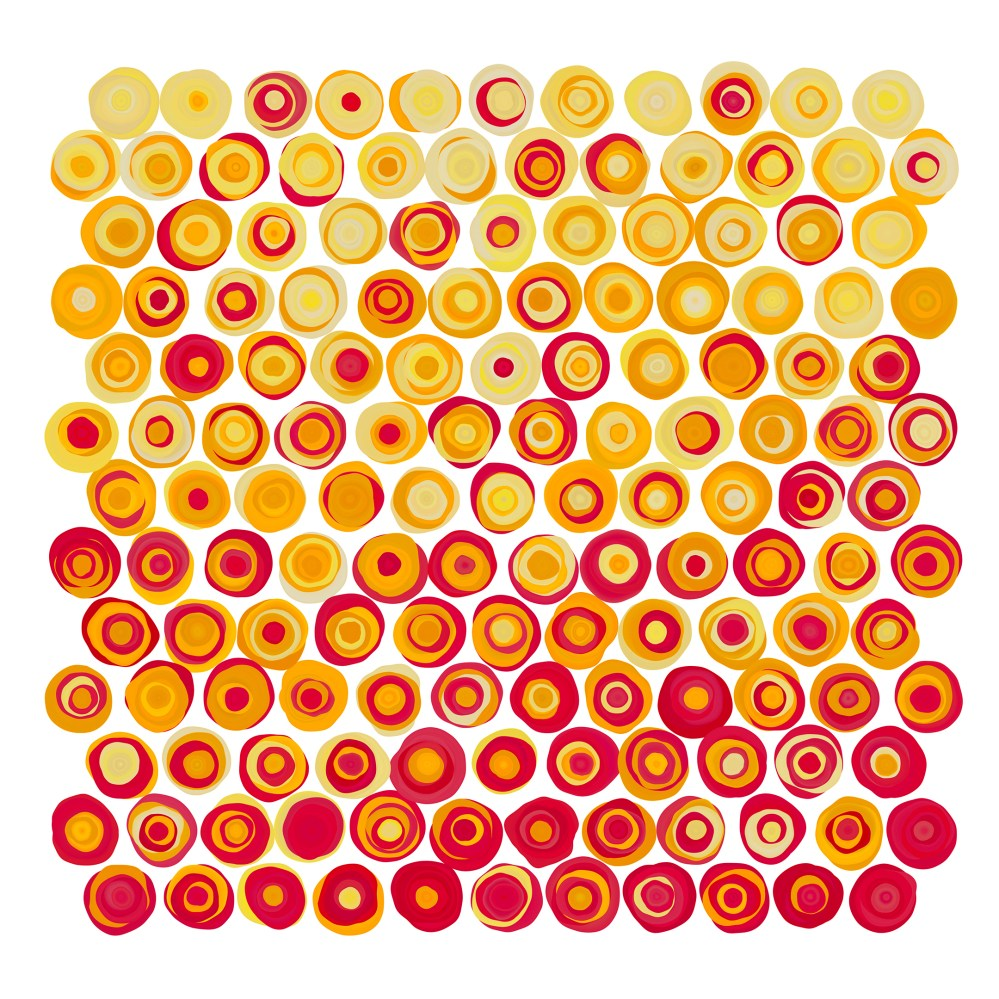 #87   Yellow Orange Red Dots