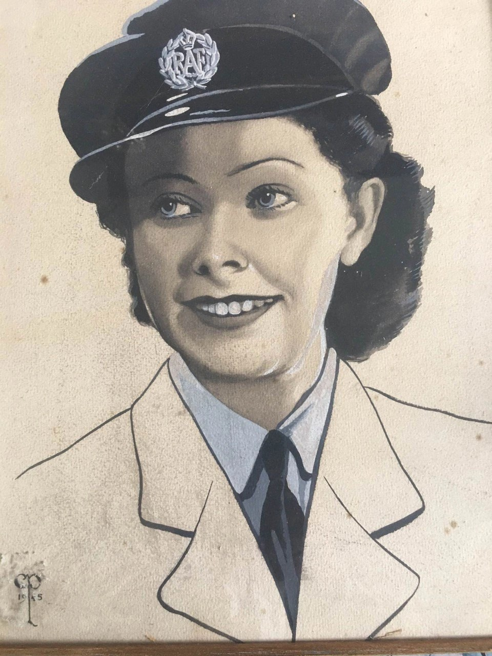 Painting of Jean McKay by her colleague in the Women's Auxiliary Air Force