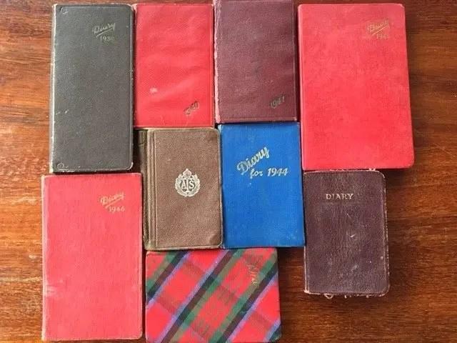 1. Enid Lewis. Enid_s 9 diaries from 1939-1947