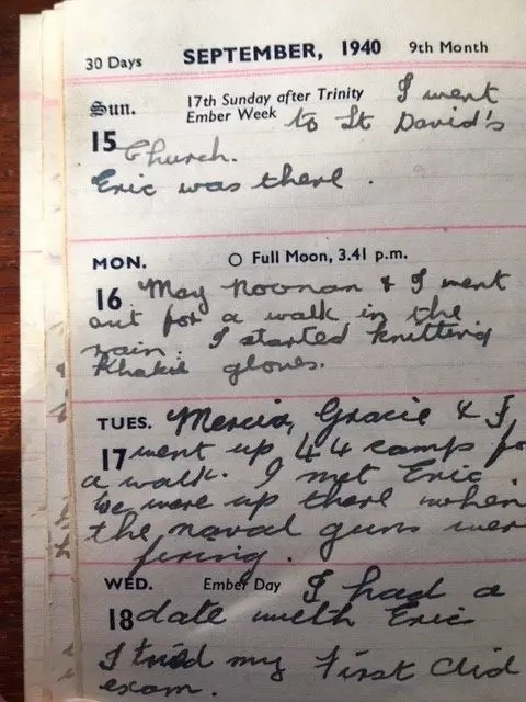 3. Enid Lewis. Diary entry Tuesday 17th September 1940_