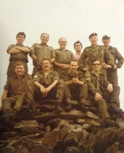 'Training Day. Don Davies with members of 224 Squadron on top of Snowden