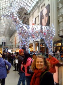 """With Eaton Centre's giant """"Rudolph"""""""