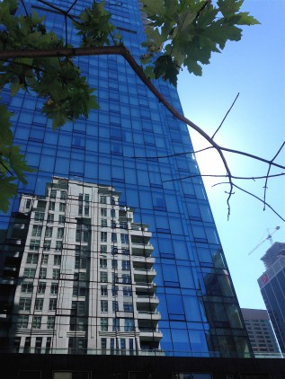 Mighty tall condo, with lovely reflection