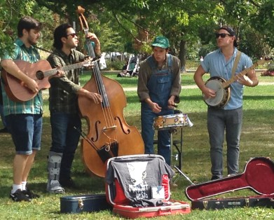 Midnight Vesta - these guys made the park a shady bluegrass haven