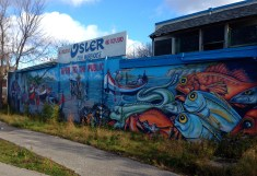 On RailPath, the excellent back mural on Osler Fish