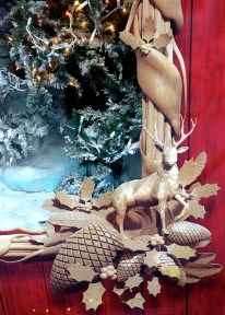 Hudson's Bay Christmas window - lovely carved frame