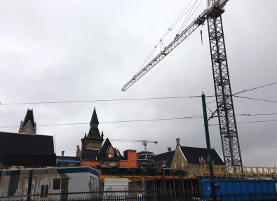 Construction continues at One Spadina