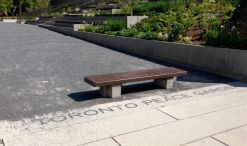 Toronto Peace Garden, stepped plantings and meditative seating area