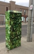 We keep finding more artful signal boxes. Here is one of the Moira McElhinney photo wrapped boxes.