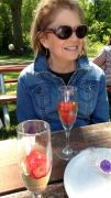 Julie... and our delicious strawberry champagne.