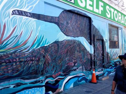 Jon Todd's Loon, part of another Love Letter to the Great Lakes mural.
