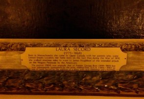A bit about that Laura Secord painting. Zoom in to read.