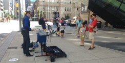 Cool marimba tunes in front of the ROM.