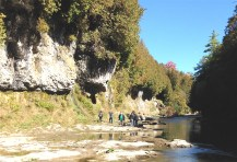 Grand River explorers - in the Elora Gorge sunshine.