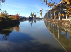 View of Keating Channel, inner harbour, oddly, still considered to be part of the Don River. That will change.