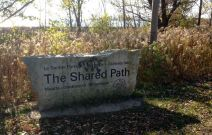 The Shared Path, some of which we followed along the river. Languages on all the signage: English, French, Seneca, Ojibway, Huron-Wendat.