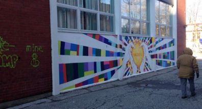 Marion noticed Ogden Public School's terrific mural, so we had a closer look...