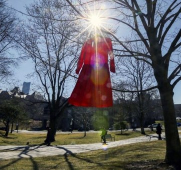 REDress Project at U of T (credit: part of a beautiful photo by Andrew Francis Wallace, for the Toronto Star)