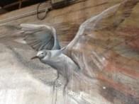 gull, in the Li-Hill mural, Fractured Space