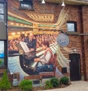 Islington Village murals, John Kuna - this is Glenn Gould!