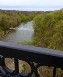 Looking south from the Humber River bridge near Old Humber.