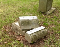 Prospect Cemetery: another Woodmen stone, worse for the time and weather