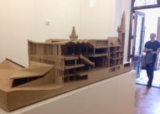 Daniels Architecture bldg U of T - renovation maquette in hall, so we had an idea of how this will all look, when complete.