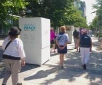 Making Peace - an amazing photo exhibition (Elizabeth, Laurie, Jan, Jorge, Helena)