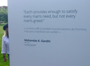 Elizabeth at Making Peace, and Skylar's fave quote of the day: Gandhi