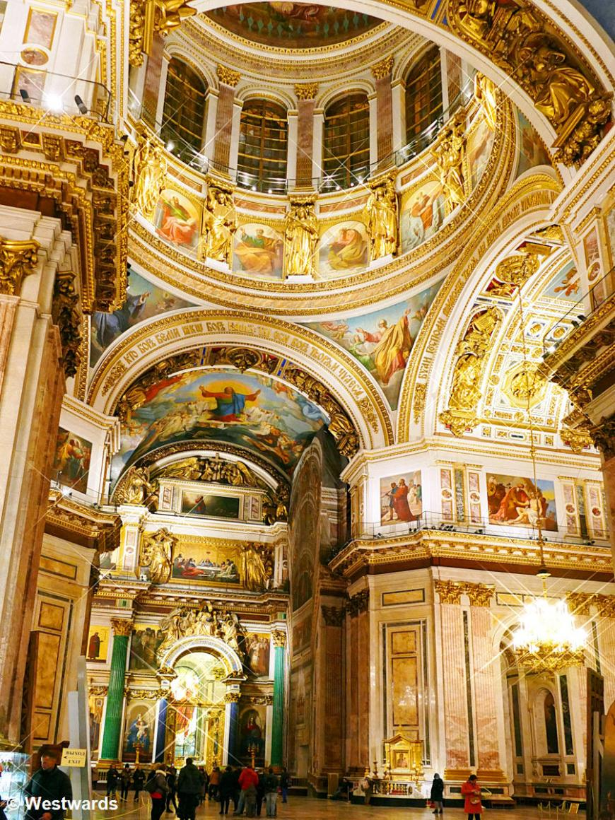 interior of St Isaak, St Petersburg