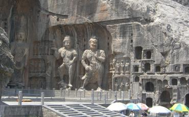 Guardian gods at the Fenxian Temple in Luoyang