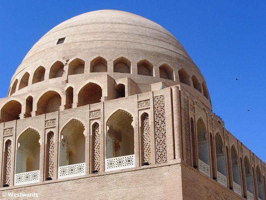 The restored Sultan Sanjar Mausoleum in ancient Merv