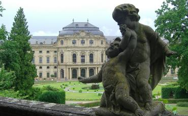 View on the Würzburg residence