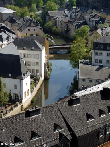 Grund area in Luxembourg city