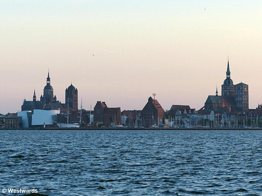 view of Stralsund from the sea