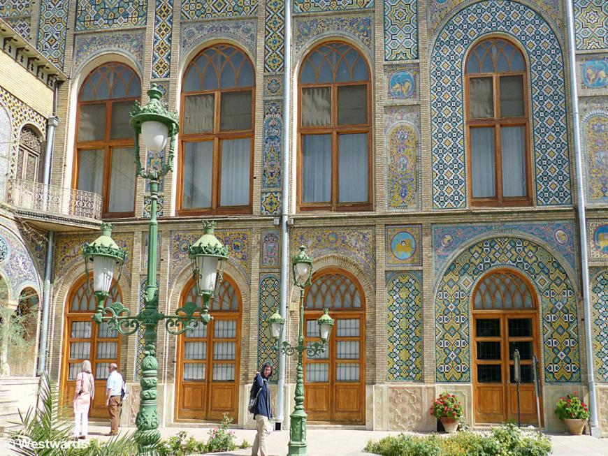 Natascha in Golestan Palace, Tehran