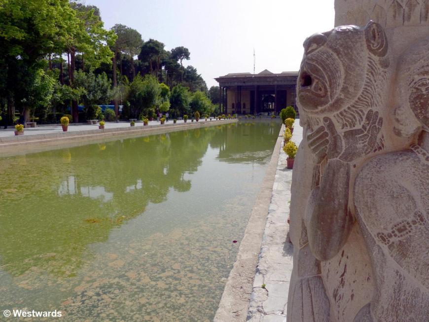 Chehel Sotun garden in Isfahan