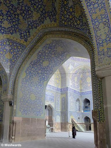 Interior of Imam Mosqe in Isfahan