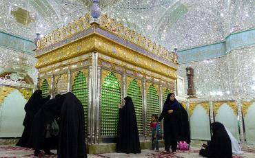 women in Imamzadeh Shrine in Yazd