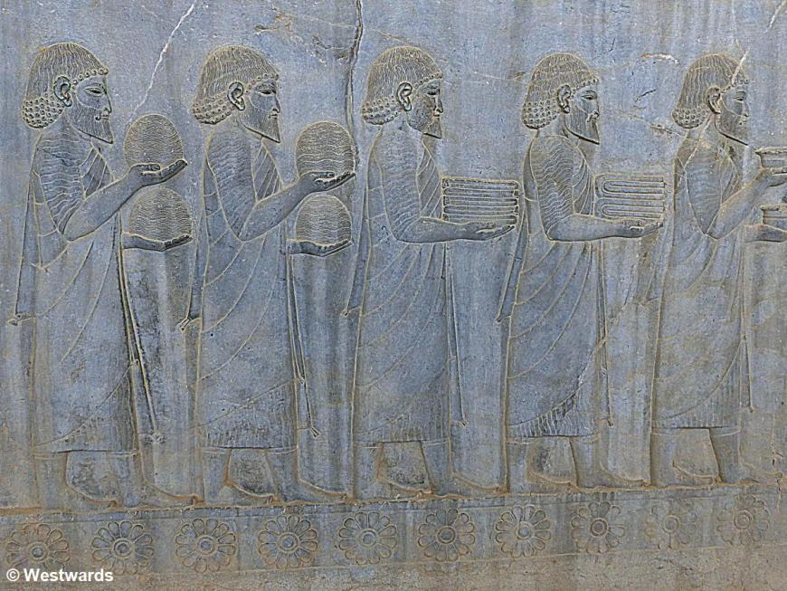 relief of Ionians visiting Persepolis with gifts