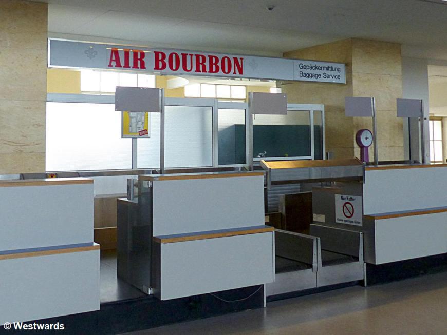 Air Bourbon check-in counter