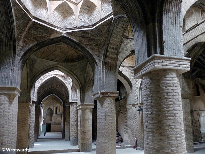 side building of the Great Mosque of Isfahan with arches