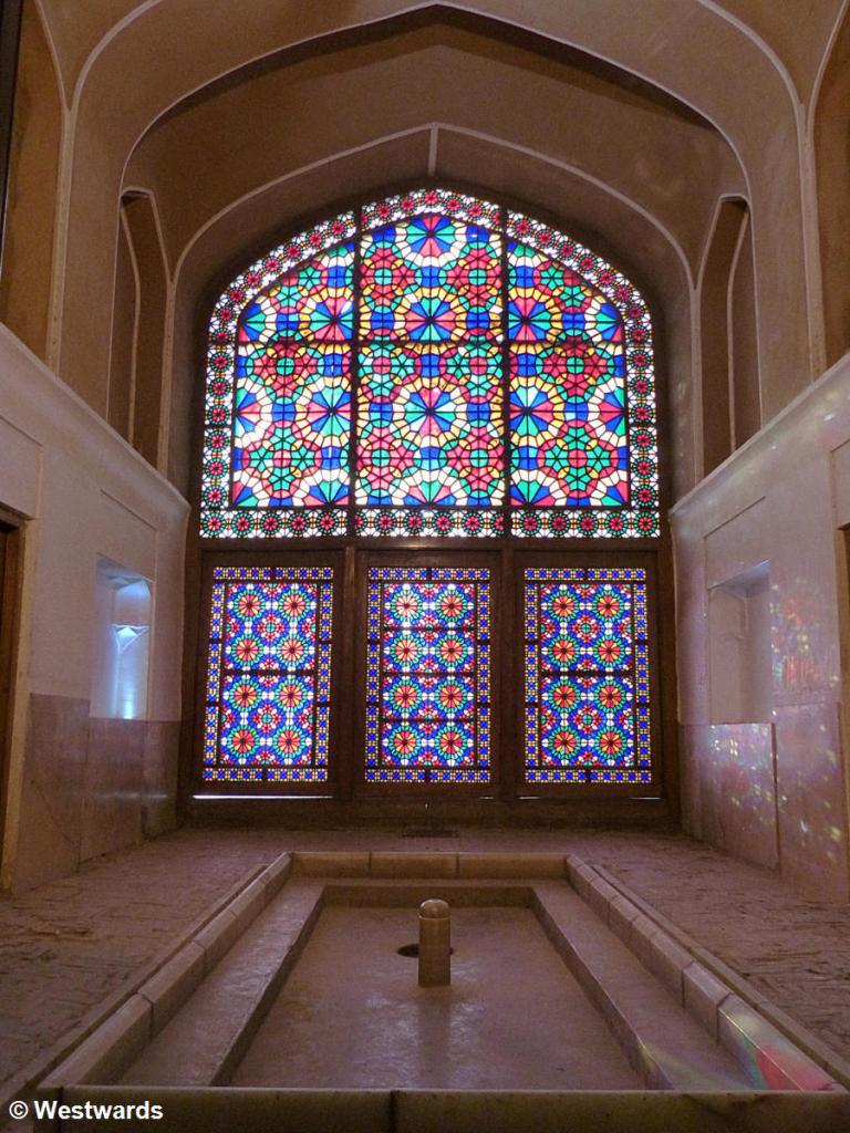 Indoor water pool at Bagh-e Dolat Abad persian garden