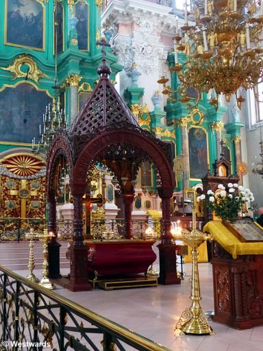 empty church interior in Vilnius