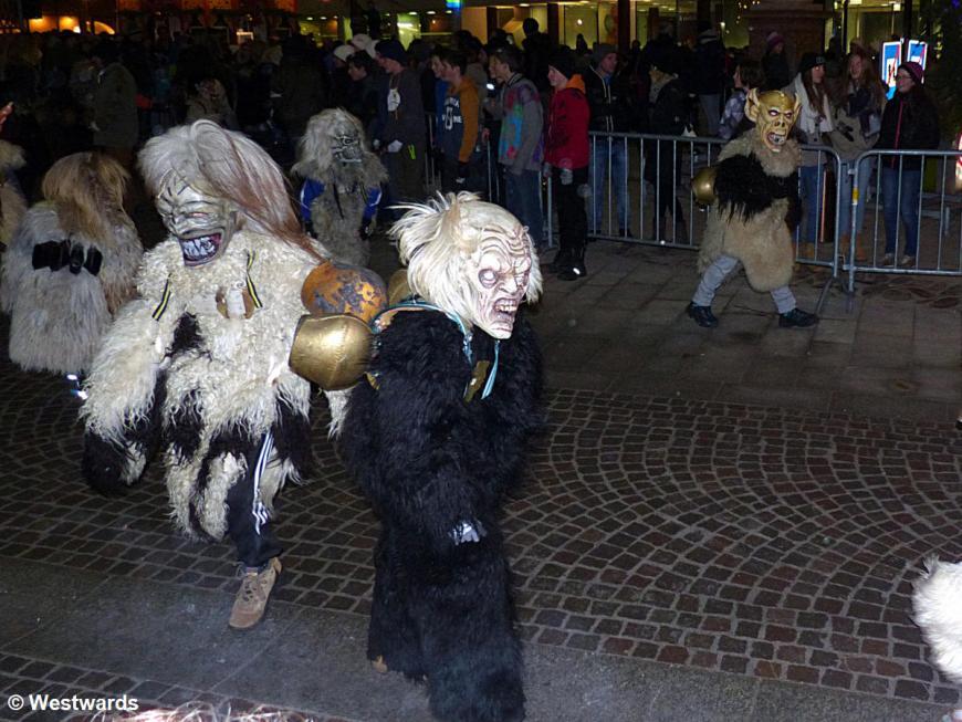 children on a Krampus rally