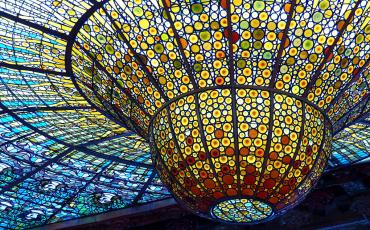 Famous glas ceiling of Palao Musica