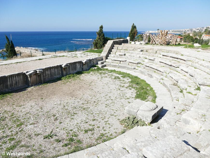 Roman theater at the archeological site in Byblos